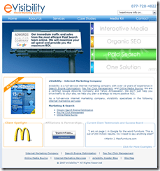 Internet Marketing Company - Search Engine Optimization Company - eVisibility_1196422867796