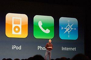Steve Jobs introduces the original iPhone as a...