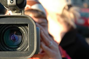 Video camera in action.