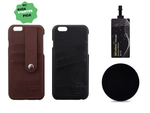 Leather HandiCase with Qi charger