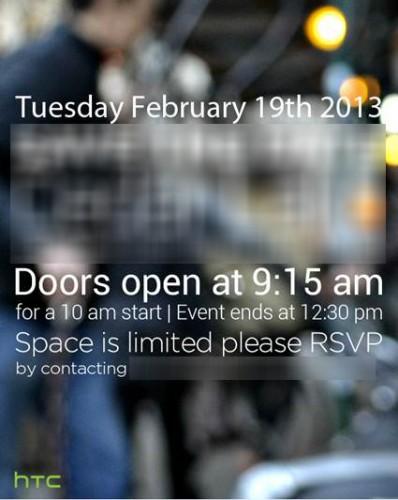 HTC Feb 19 event invite
