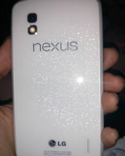 White LG Nexus 4