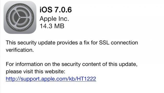Apple iOS 7.0.6 Update