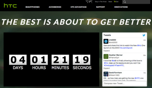 All New HTC One Countdown