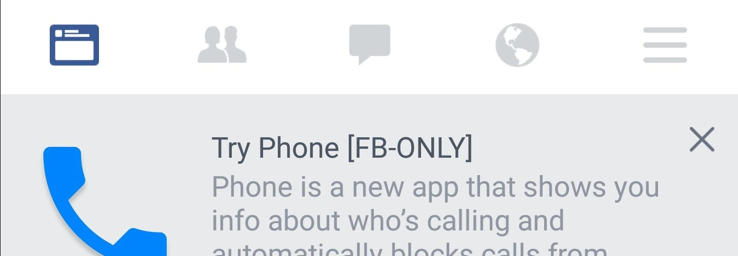 Facebook Phone app leak