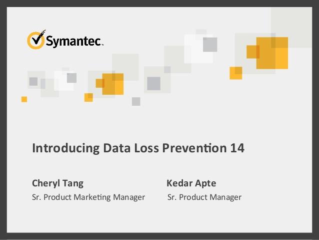 Symantec Data Loss Prevention 14