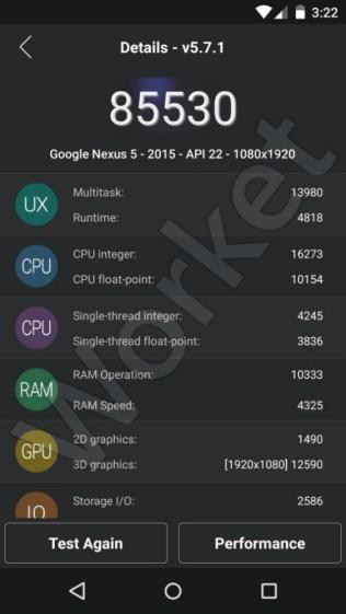 LG Nexus 5 (2015) antutu