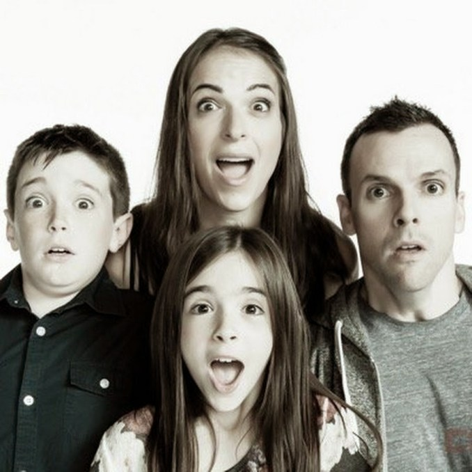 The Eh Bee family posts short, humorous video clips online