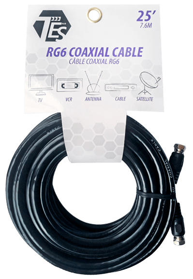 Tech Electronic Tes Rg6 Coaxial Cable
