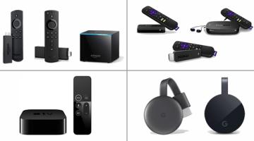 Amazon Fire TV, Roku, Apple TV, Google Chromecast
