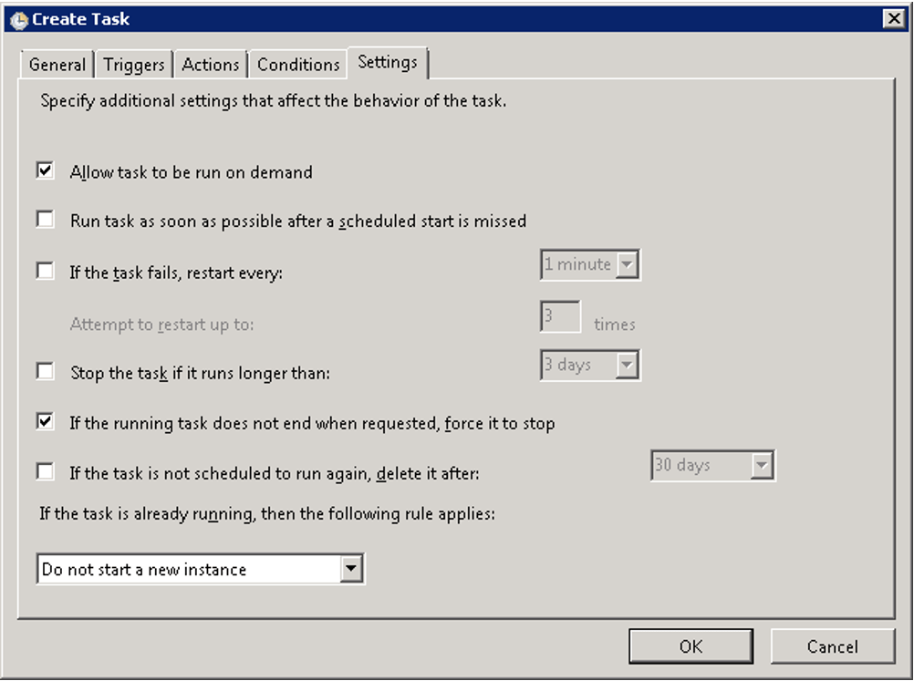 Create task for VirtualBox