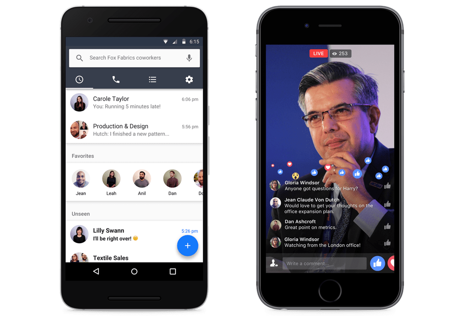 Workplace by Facebook on mobile