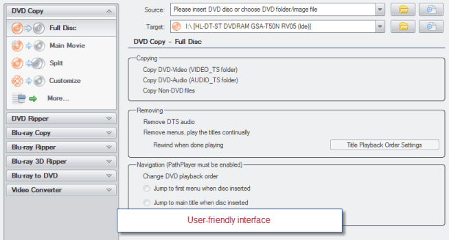Blu ray 3d ripper interface