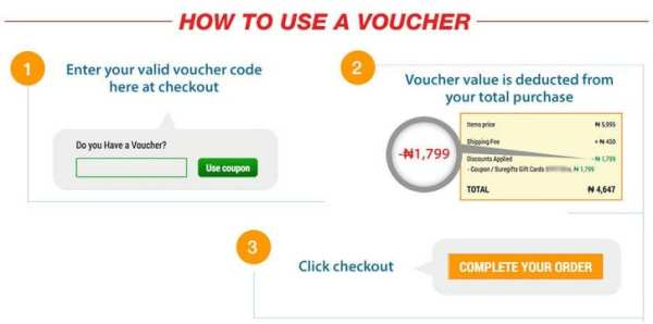 How to use voucher