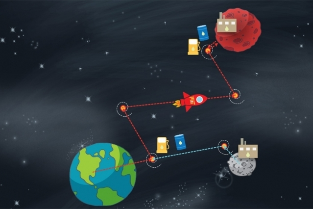 First Stopover On MOON For Refueling And Then Continue Journey To Mars