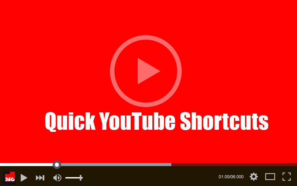 5 Quick YouTube Shortcuts You Must Know About