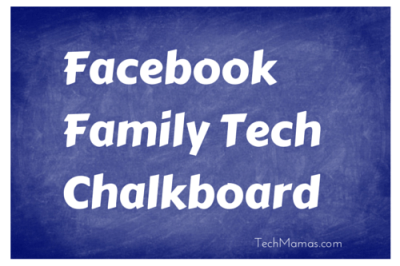 Facebook Family Tech Chalkboard