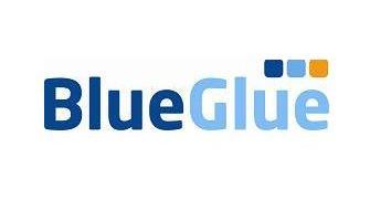 blueglue on white card