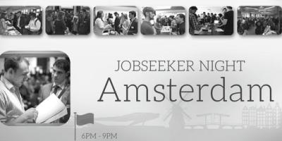 Amsterdam job seeker night banner in nov
