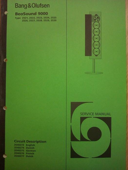 original fuld version af beousound 9000 service manualen