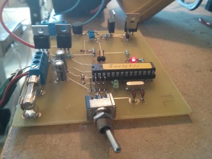 inverter 12 volt til 230 volt med arduino