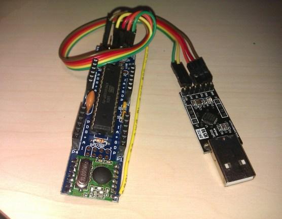 Monteret JEEnode med USB adaptor