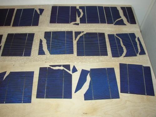 knækket solcelle