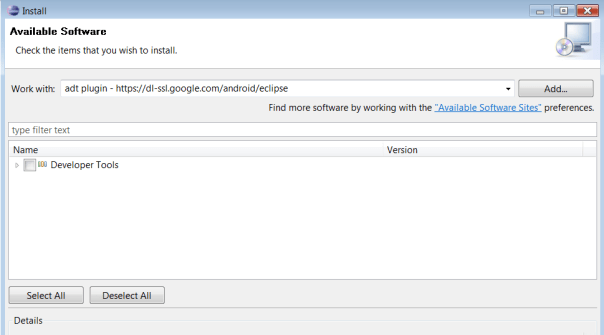 adt plugin install in elipse