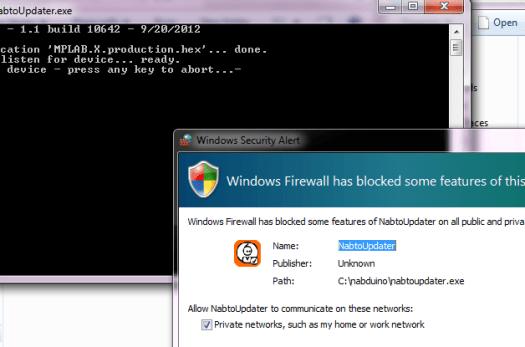 nabtoupdater firewall allow