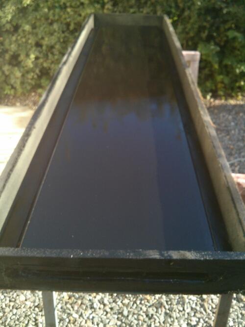 den samlede og sort malede solfanger