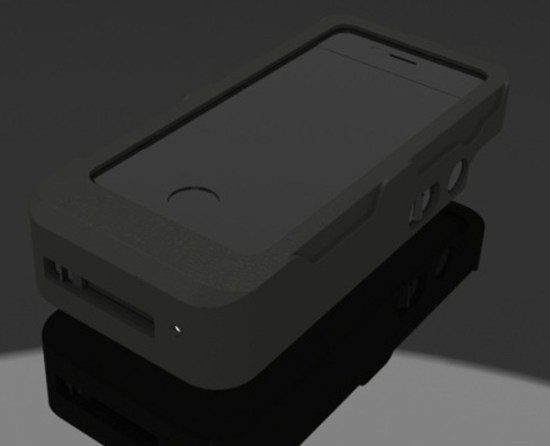 yellow jacket iphone case indiegogo front