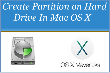 Create partition in hard drive