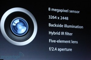 The iPhone 5 camera has the same 4S camera but slightly thinner