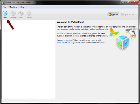 VirtualBox - New Virtual Machine