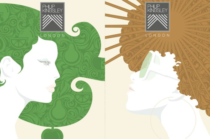 The hair images symbolise the health / fitness / wellbeing lifestyle that the brand is part of. In these cases, fruit and sun.