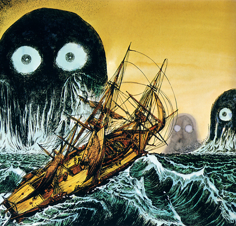 Monster illustrations from 'Yokai Jiten'