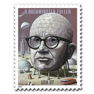 Buckminster Fuller stamp
