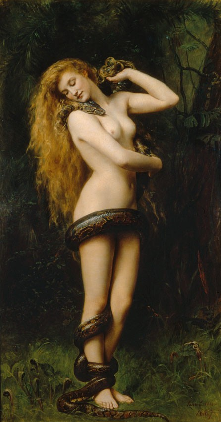 John Collier - Lilith with a Snake -1886