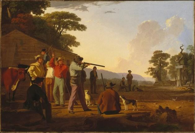 George Caleb Bingham - Shooting For The Beef - 1850