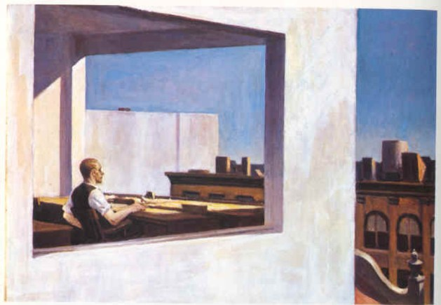 Edward Hopper - Office In A Small City - 1953