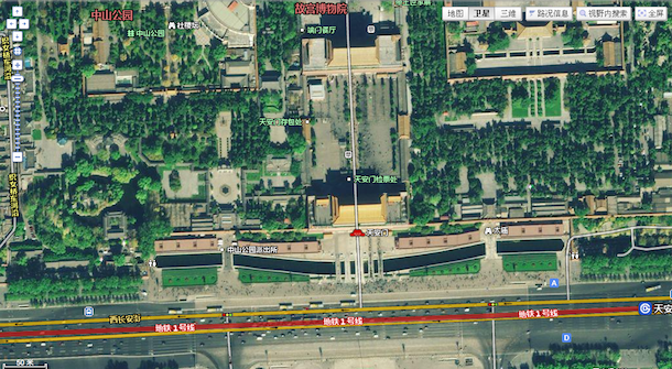 Baidu Map Now Supports Satellite View  Looks More Clear Than     Baidu Map Satellite