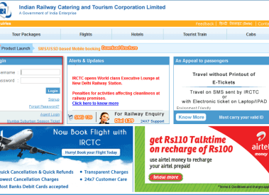 How To Book Railway Ticket online on irctc