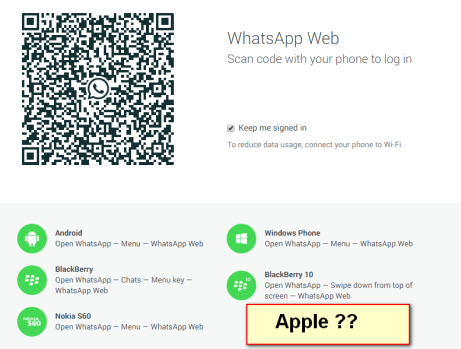 whatsapp web problem