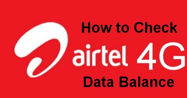 how to check airtel 4G data balance