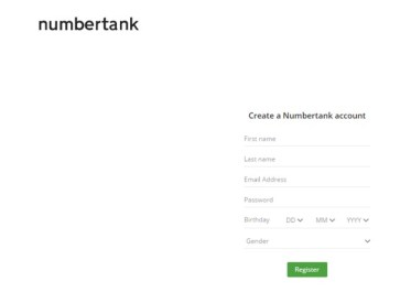 Now, create a Numbertank account there & fill your basic details to create it