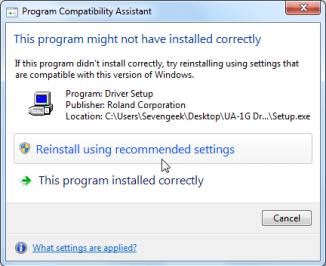 Reinstall the Program