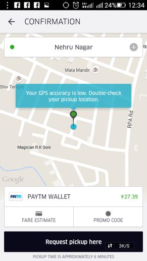 set location on uber