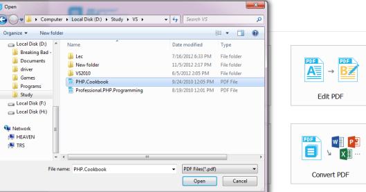 edit file in wondershare PDF editior