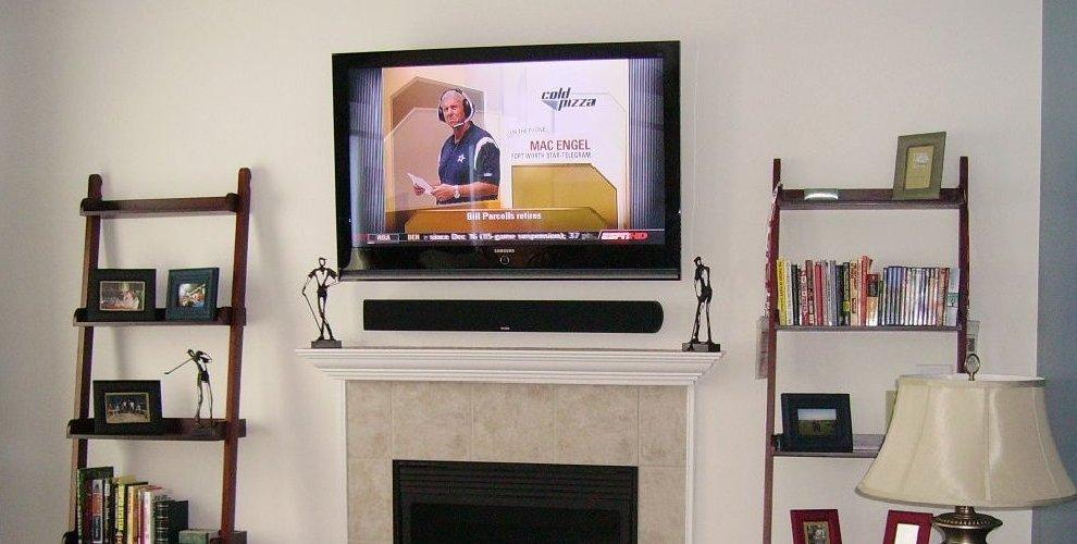 Fireplace Mount HD TV