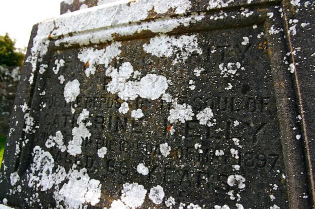 Catherine Kelly's headstone